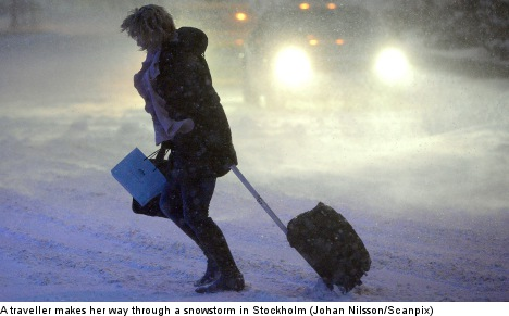 Season's first snow set to smother Stockholm