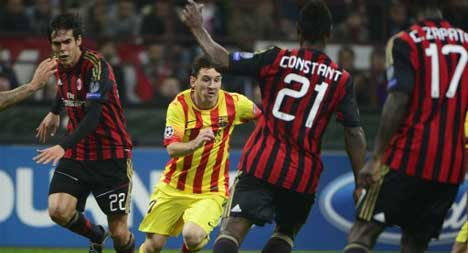 Messi goal rescues Barça at the San Siro