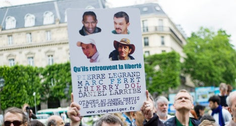 French hostages 'freed' in Niger after three years