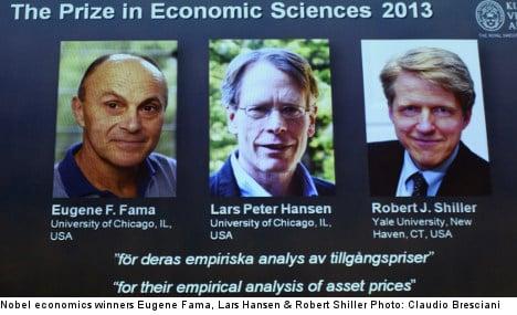 'Disbelief': US trio wins Nobel economics prize