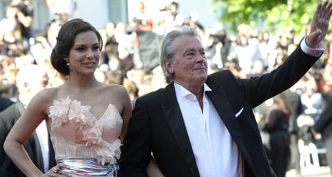 French movie star Delon in Miss France bust-up