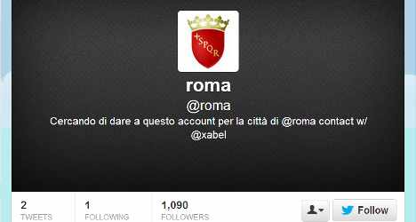 'Roma' Twitter account goes unwanted