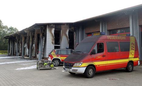 Firefighters fail to battle blaze in own building