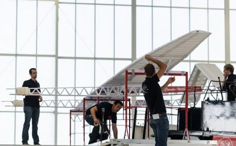 Students break record for biggest paper plane