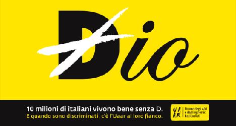 Atheist ad campaign riles Italy's Catholics