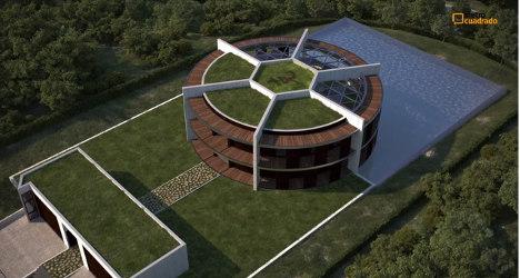 Spaniard designs Messi football-shaped home