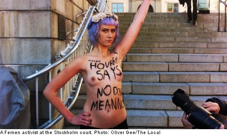 Topless activists protest gang-rape acquittal