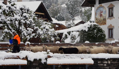 First heavy snow falls in southern Germany