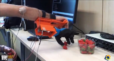 VIDEO: Italians unveil 'strawberry picking' hand