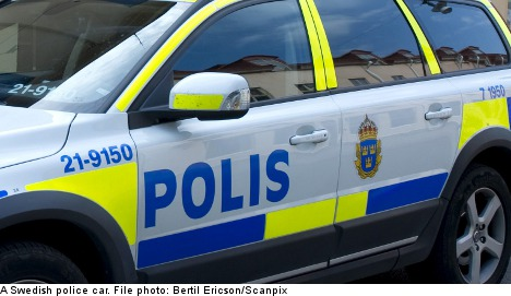 Brawling football fan run over by police car