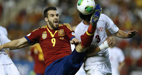 On form Negredo guides Spain to World Cup