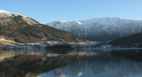 Mountain peak collapses in northern Norway