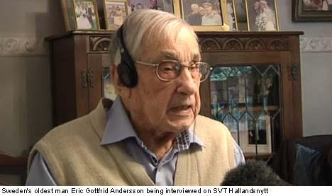 Sweden's oldest man turns 108