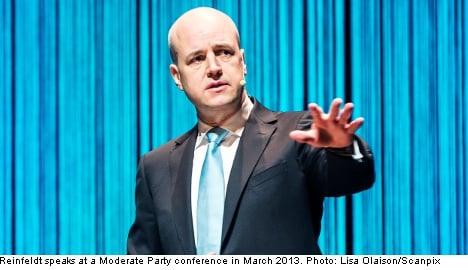 Voter trust in Reinfeldt at three-year low