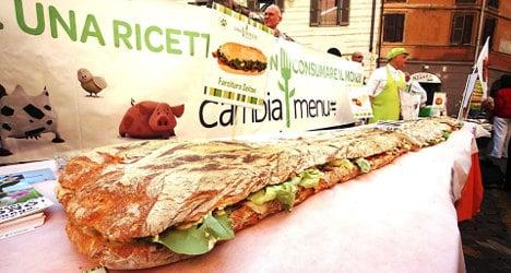 Photo of the day: Italians set vegan panino 'record'