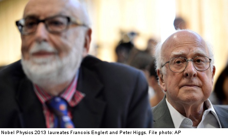Higgs and Englert share Nobel physics prize