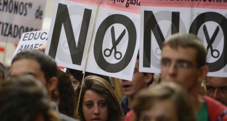Education strike protests 'brutal' spending cuts