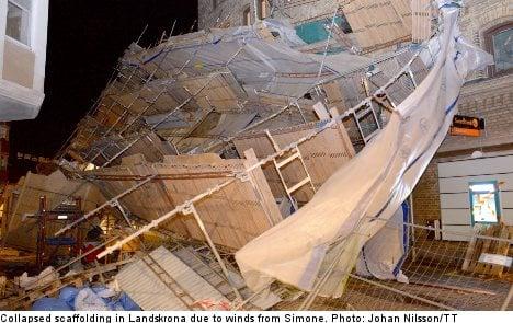 Sweden sifts through Simone storm damage