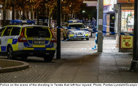 Four men shot in north Stockholm suburb