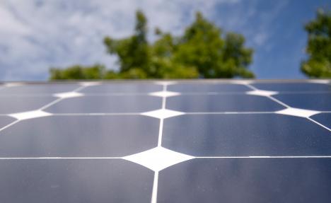 Solar panel burglars run off with door instead
