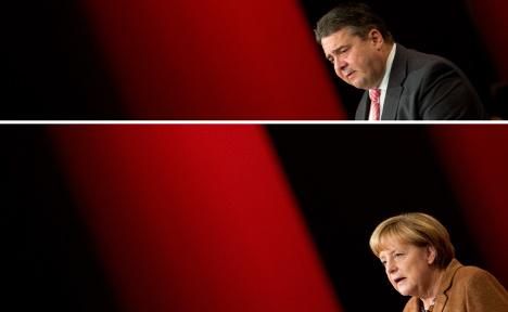 SPD leaders agree to Merkel coalition talks