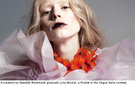 Swedish fashion designer in esteemed Vogue finals