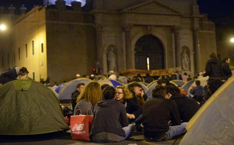 Housing protesters stay camped out in Rome