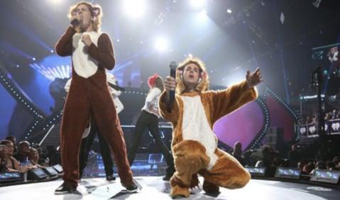 VIDEO: Ylvis headline US talent show finale