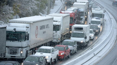 Heavy snow causes chaos in central France