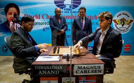 Carlsen on brink of world chess title
