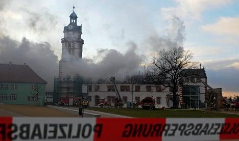 Fire badly damages Renaissance palace