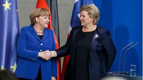 'Lack of jobs dangerous,' Solberg warns Merkel