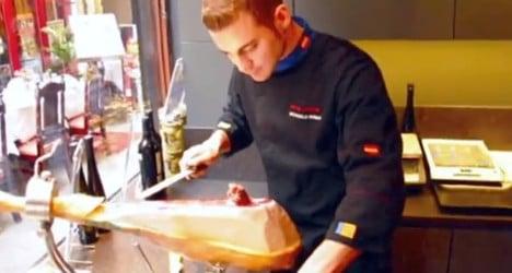 Spanish ham slicer slashes Guinness record