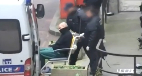 Suspected Paris gunman goes on hunger strike