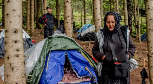 Roma evicted from wood outside Oslo