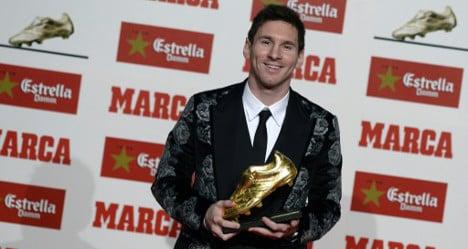 Top scorer Messi bags record third Golden Shoe