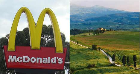 McDonald's Tuscan burger ad sparks row