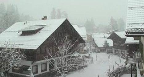 Snow marks winter's return to Switzerland