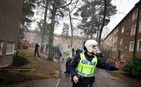 Anti-Nazi demo too big for Stockholm suburb