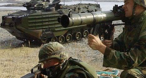 Soldier's souvenir rocket blows up comrades