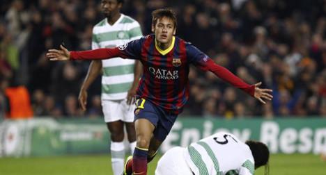 Neymar nets hat-trick as Barça hit Celtic for six