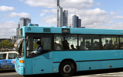 Frankfurt buses stay parked in strike