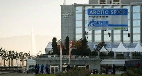 Activists arrested over Geneva Gazprom protest