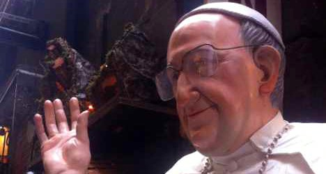 Pope Francis statuettes 'selling like hot cakes'