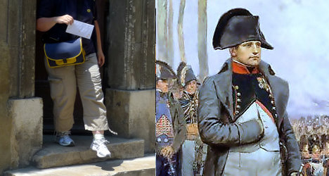 French bureaucrats send letter to Napoleon