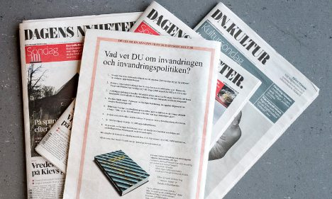 Swedes in uproar over 'xenophobic' book ad