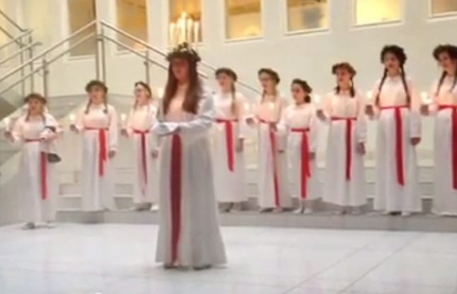 VIDEO: The sounds of Swedish Lucia