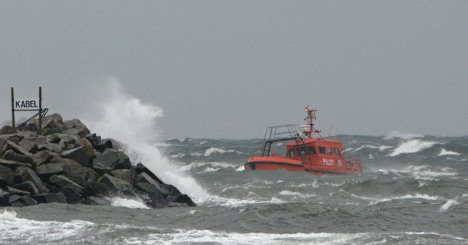 Sven's strong winds sweep southern Sweden