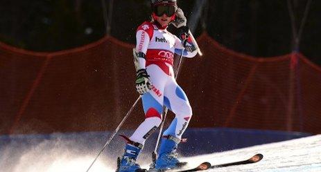 Skier Gut misses Colorado hat trick