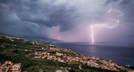 In Pictures: Wild storm hits Canary Islands
